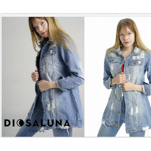 Campera Jean Larga