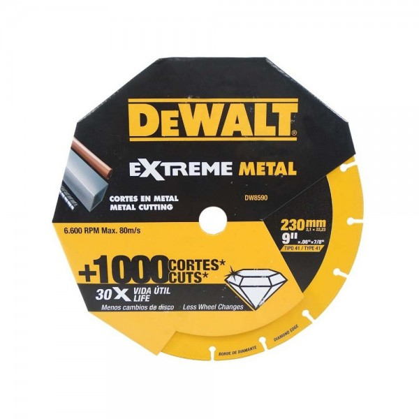 DISCO DIAMANTADO 230MM CORTE METAL EXTREME DEWALT | DW8590
